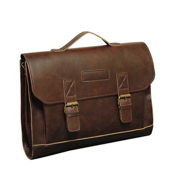 6737fbd93f9495 Elegant Leather Men's Briefcase - Getaway Gear